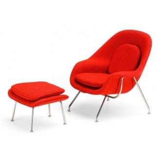 Womb Chair & Ottoman -...