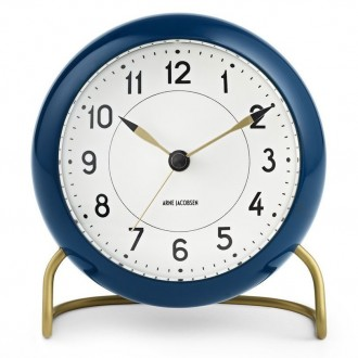 blue AJ Station table clock...