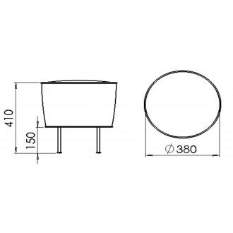 Ø38cm pouf - Modern Line