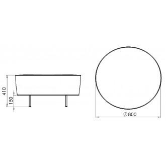 Ø80cm pouf - Modern Line