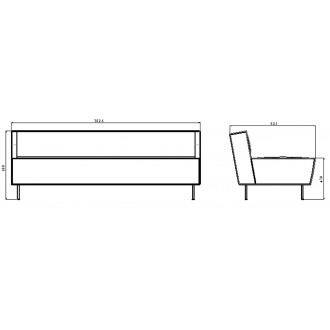 2-seater sofa - Modern Line...