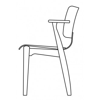 wooden seat - Domus chair