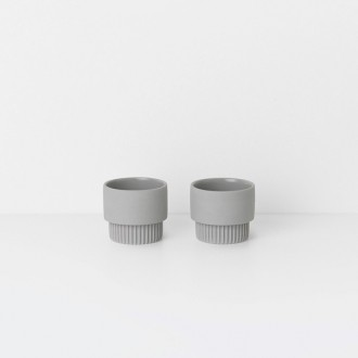 grey - 2 x Groove egg cups