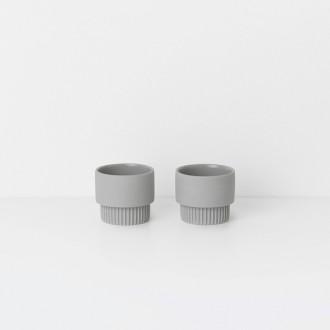 gris - 2 x coquetiers Groove