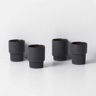 dark grey - 4 x Groove cups