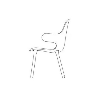 Wooden Base - Catch Chair JH1
