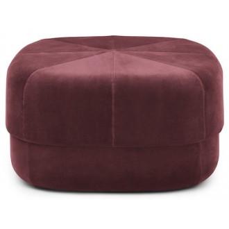 large - rouge foncé - pouf...