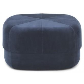 large - bleu foncé - pouf...