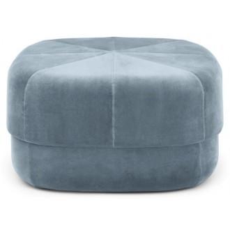 large - bleu clair - pouf...