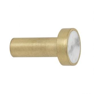 S - white marble / brass -...