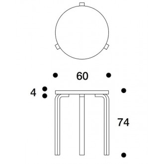Ø60cm - table 90C