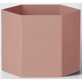 XL - pink - Hexagon pot