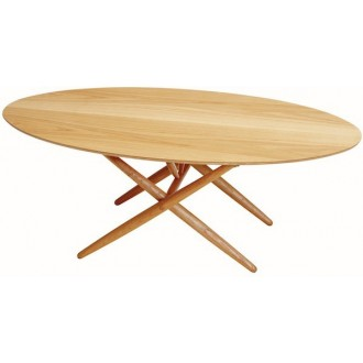 oak - Ovalette table