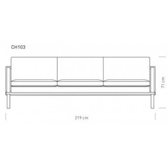 CH103 three seat sofa