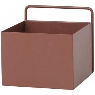 marron rouge - Wall Box carrée