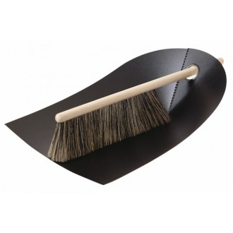 black - dustpan and broom