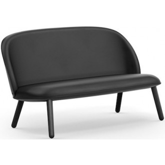 Ultra black leather - Ace sofa
