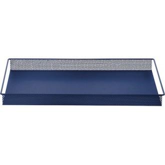 bleu - plateau en métal