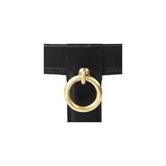 black leather - Ø100cm -...