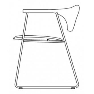 sledge base - Masculo chair