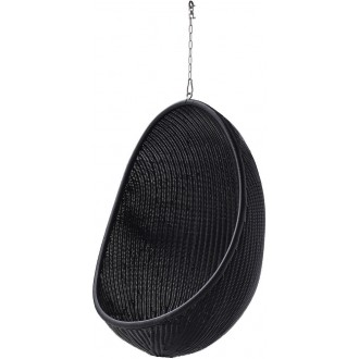 black - hanging Egg chair -...