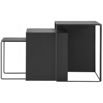 black - 3 x Cluster table