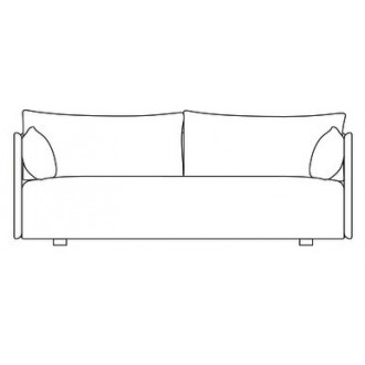 2-seater sofa - Offset