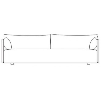 3-seater sofa - Offset