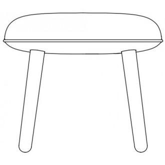 wood legs - Ace footstool