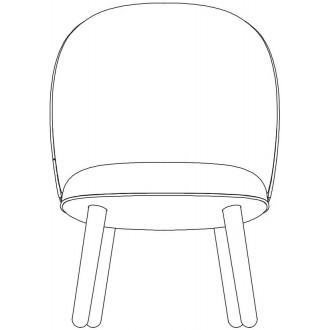wood legs - Ace lounge chair