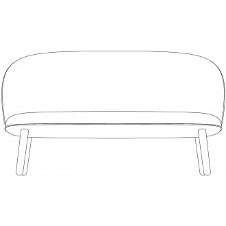 wood legs - Ace sofa