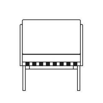 2 armrests - square cushion...