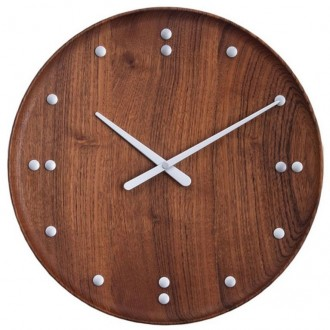 FJ Clock - Ø35cm - Teck