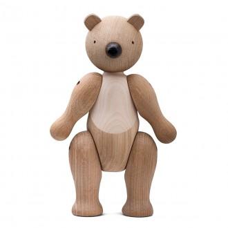 bear - M - H25 cm – oak/maple