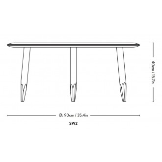 Ø90cm - table Hoof SW2