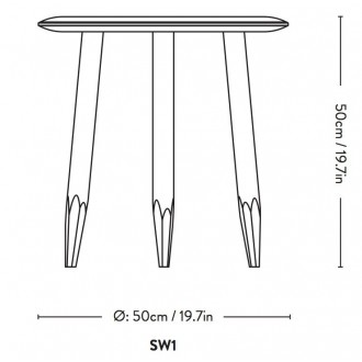 Ø50cm - table Hoof SW1