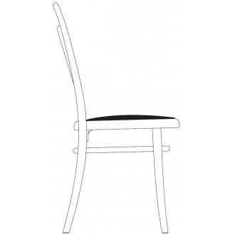 upholstered seat + black...
