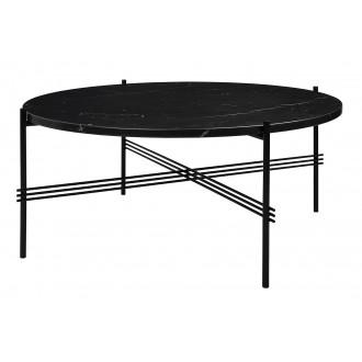 Ø80xH35cm - black marble -...