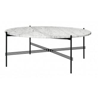 Ø105xH40cm - white marble -...
