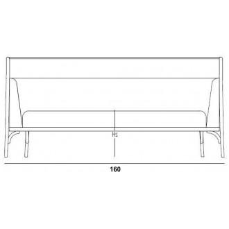 W160cm sofa - Targa