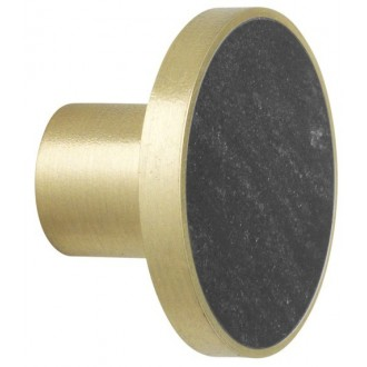 L - black marble / brass -...