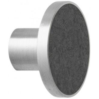 L - black marble / steel -...