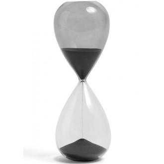 30min - black - Time Hourglass