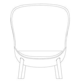 fauteuil haut Hyg pieds bois