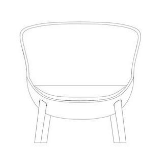 fauteuil bas Hyg pieds bois