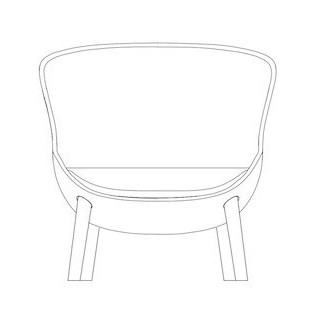 Hyg low lounge chair wooden...