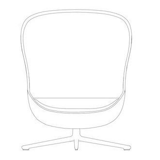 Hyg swivel high lounge chair