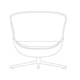 Hyg swivel low lounge chair