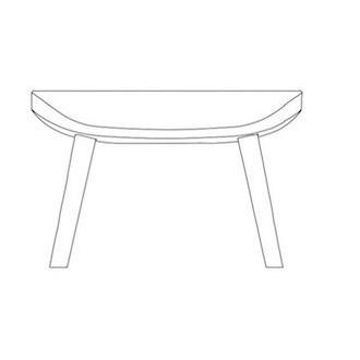 Hyg footstool wooden legs