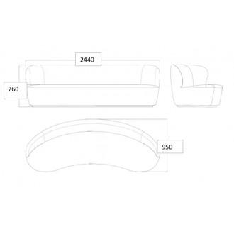 240x95cm - oval - Stay sofa